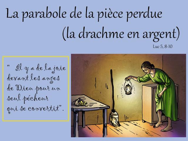 Caté : La parabole de la pièce perdue (drachme)