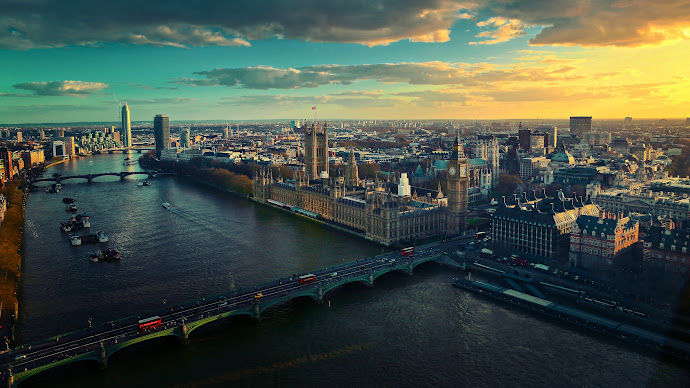 Wallpaper: Urban view from London
