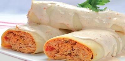 Receta de Canelones de pollo✅con salsa blanca, deliciosa receta de canelones de pollo  ideal para tu almuerzo o cena ya que es super liviana y fácil de realizar.