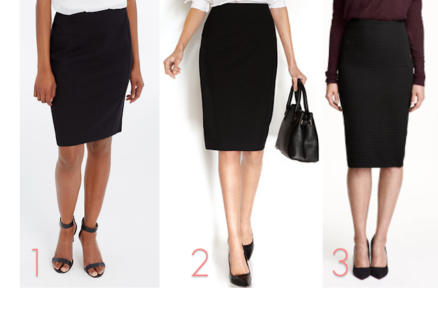 Back to School for Teacher Black Pencil Skirt First Day Outfit