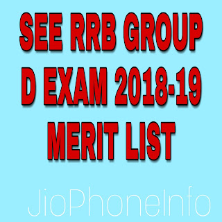 RRB Group D EXAM 2018 MERIT LIST