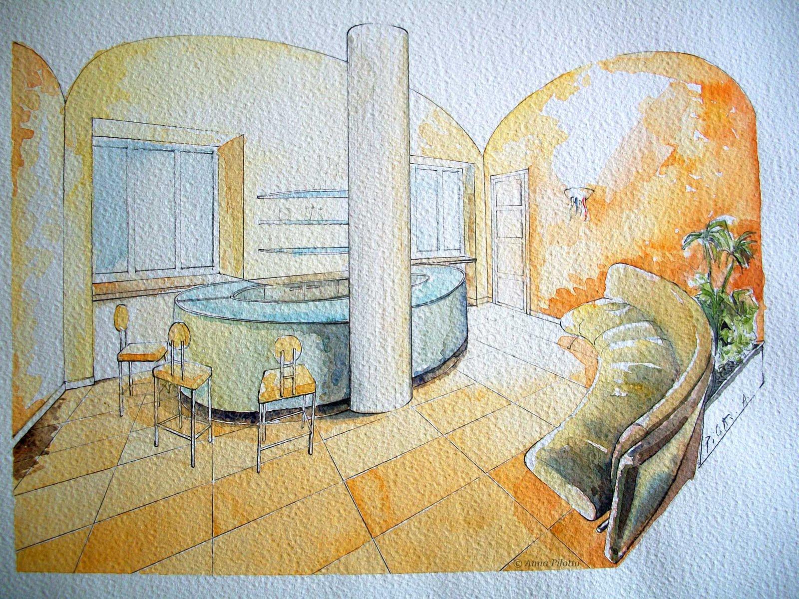 Anna pilotto illustratrice progettazione d 39 interni for Corso per arredatore d interni