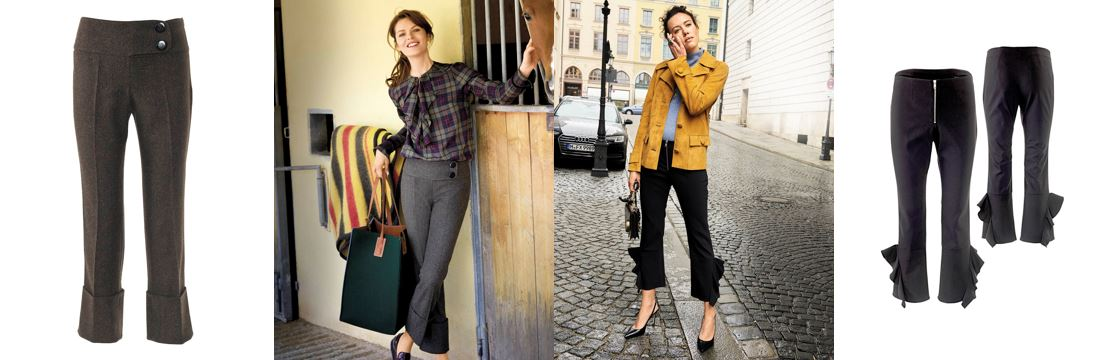 fashion trend: nohavice s volánom // flare pants