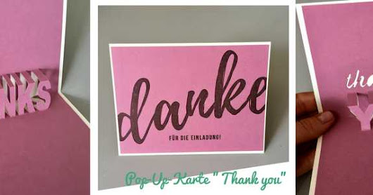 "Pop-Up-Karte ""Thank you"" – mit free download!"
