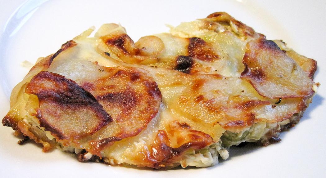 Dauphinoise Potatoes with Leeks