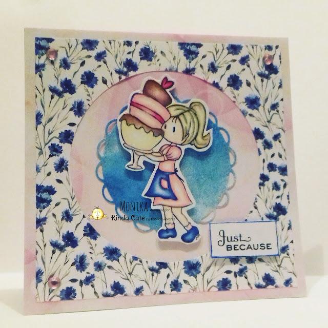 card using baker girl stamp from Kinda Cute by Patricia Alvarez