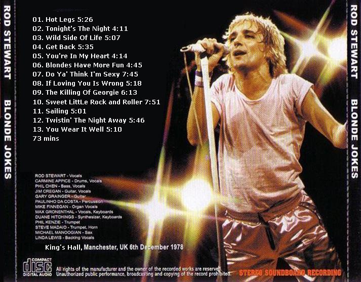 RELIQUARY: Rod Stewart [1978 12 06] Blonde Jokes [FM]
