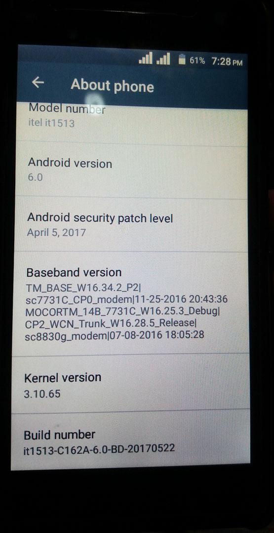 iTel it1513 NV File For IMEI Reapir Baseband Unknown Fix