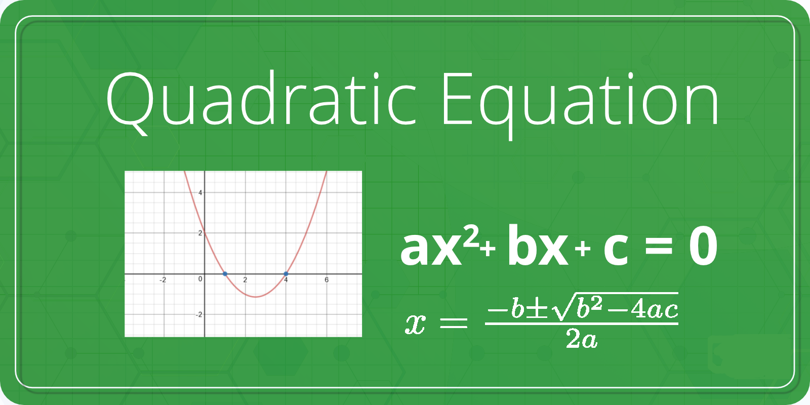 roots of a quadratic expression