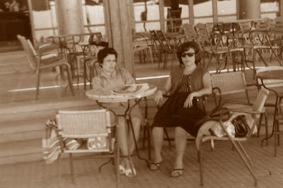 Las ajedrecistas Maria Rosa Ribes y Maria Lluïsa Puget