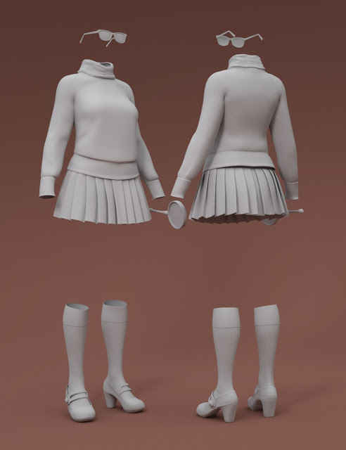 The Mystery Solver Outfit for Genesis 3 Female