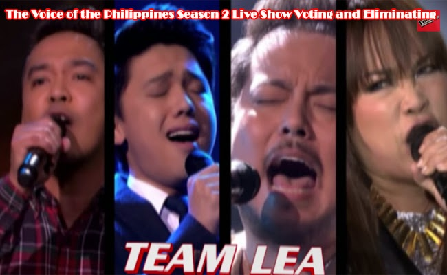 The Voice of the Philippines Season 2 Live Show Voting and Eliminating Team Sarah and Team Lea Part 1 February 8, 2015