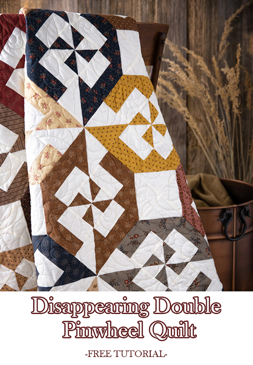 Disappearing Double Pinwheel Quilt Free Tutorial designed by Jenny of Missouri Quilt Co