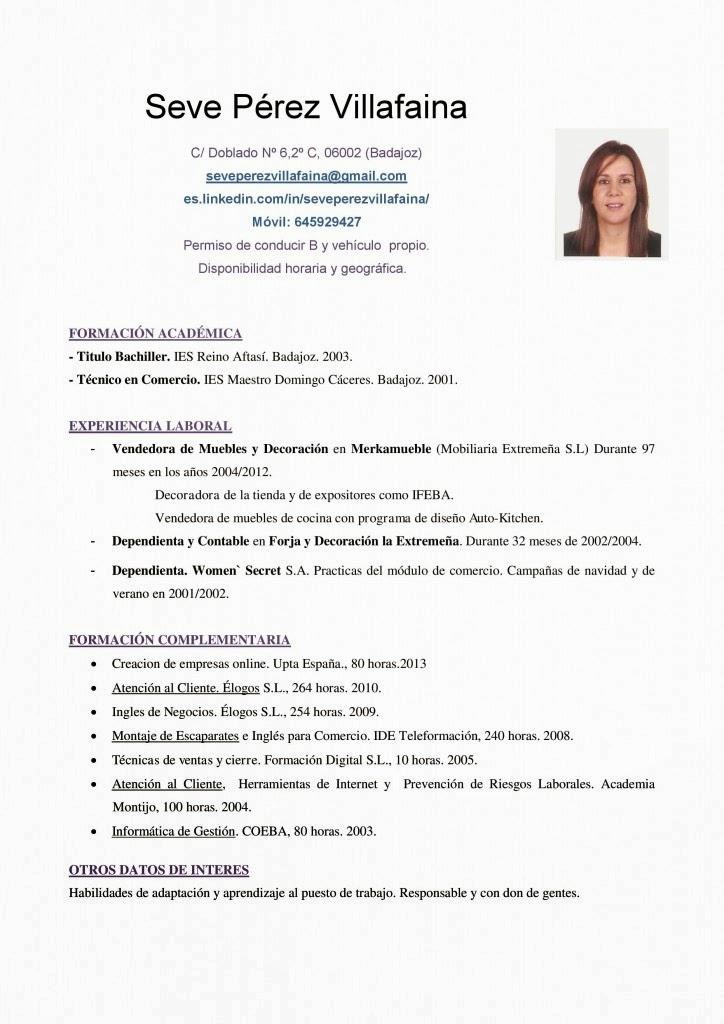 Plantilla De Curriculum Vitae Basico Sin Experiencia Plantilla Cv Basico Sin Experiencia Veronica Pinterest Curriculum