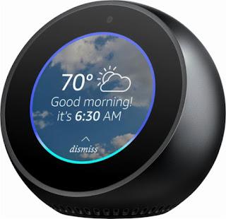 Amazon Echo Spot sharp display great quality
