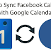 Facebook Calendar to Google