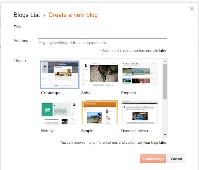 Step by step guide to create a blog with Google blogspot