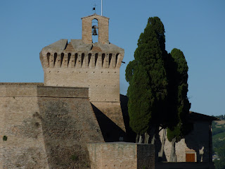 The castle at Zaccheroni's home town of Meldola