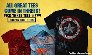 Great Offer – Voxpop T-Shirts: Buy 3 T-Shirts + 1 Surprise worth Rs.2397 just for Rs.799 Only