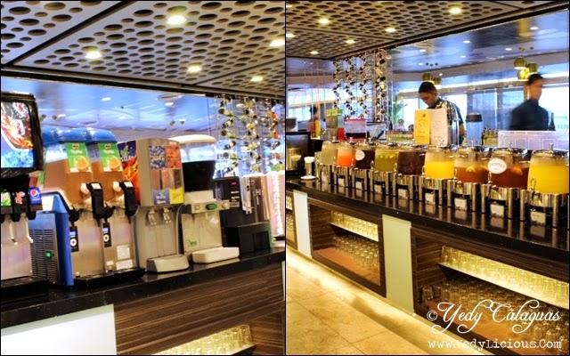 Drinks Stations at Vikings Buffet SM Megamall