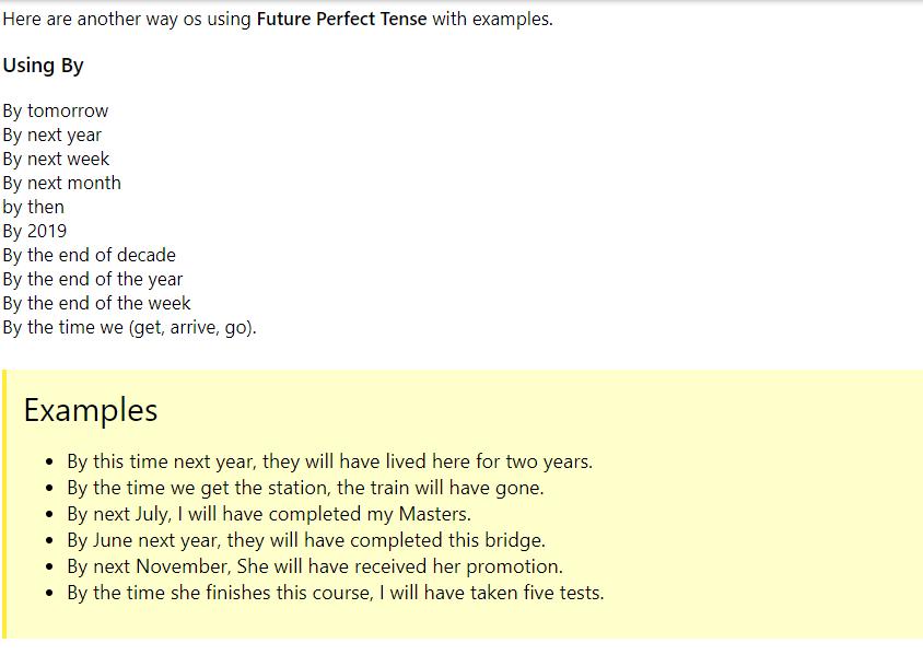 the future perfect tense pdf