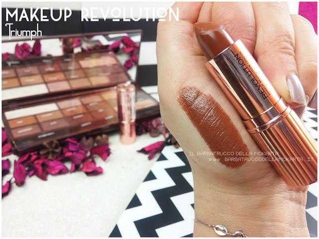 triumph swatches  lipstick Rossetto Renaissance  makeup revolution