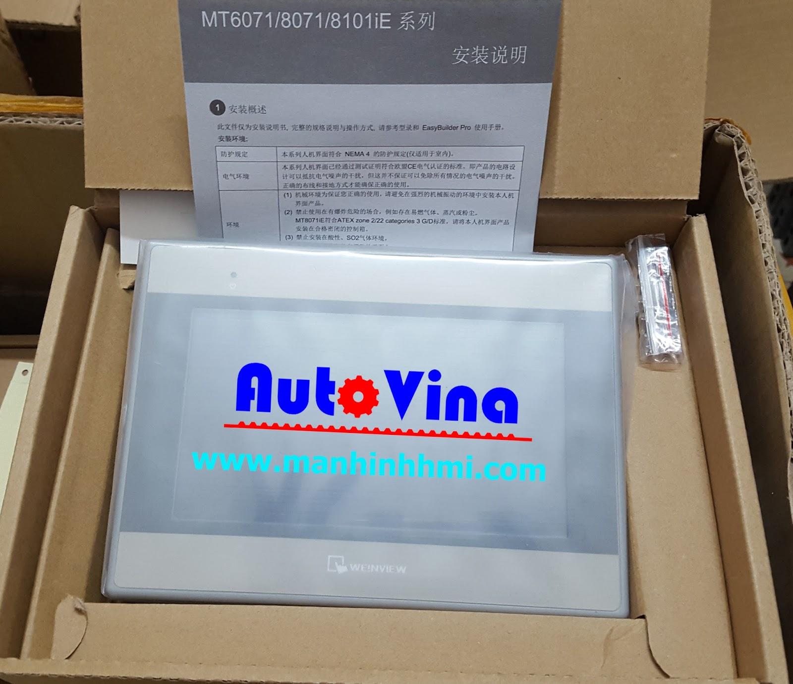 Đại lý bán màn hình cảm ứng HMI MT6071iE Weintek, hàng luôn có sẵn trong kho công ty Auto Vina