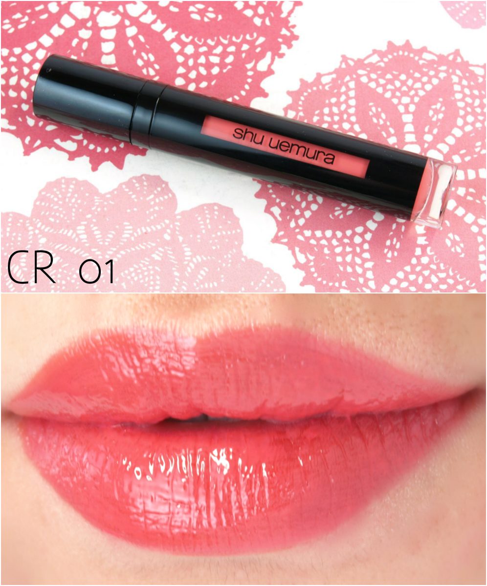 """Shu Uemura Laque Supreme in """"CR01"""", """"WN02"""", """"RD02"""" & """"RD04"""": Review and Swatches"""