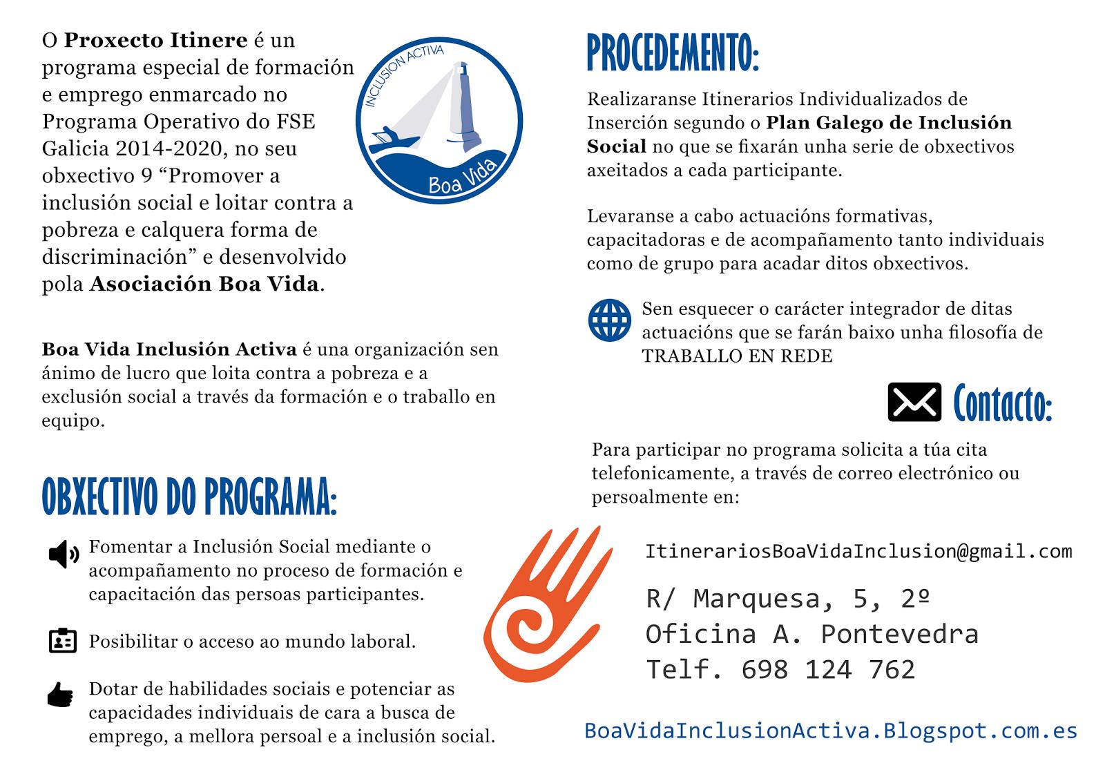 Asociaci n boa vida inclusi n activa for Oficina de emprego galicia