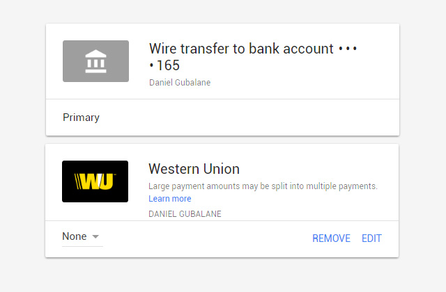 Google Adsense Bank Account