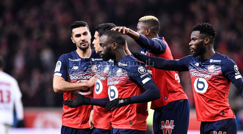 هدفين لهدف نادي ليل يحقق الفوز على فريق مونبلييه في الدوري الفرنسي