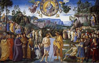 Batismo Jesus, Perugino, Parede da Capela Sistina