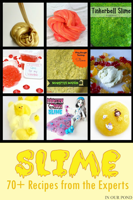 Slimed!  70+ Recipes from the Experts // In Our Pond // kids' crafts // silly putty // elmers glue // disney // slime // gak // recipes // toys // games // summer crafts // DIY toys