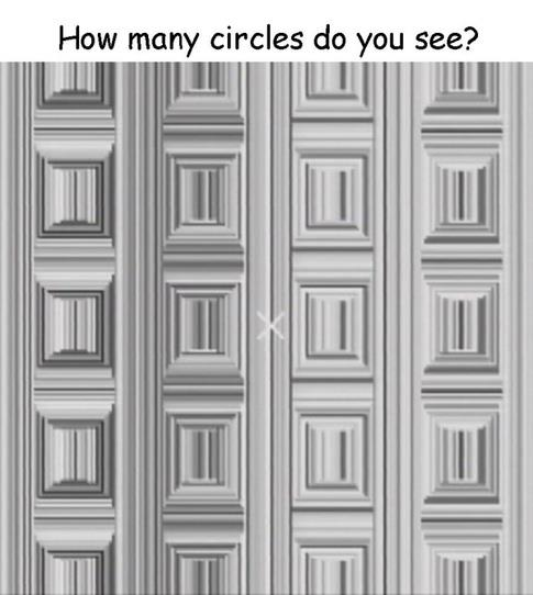 Optical Illusion of creating circles from straight lines