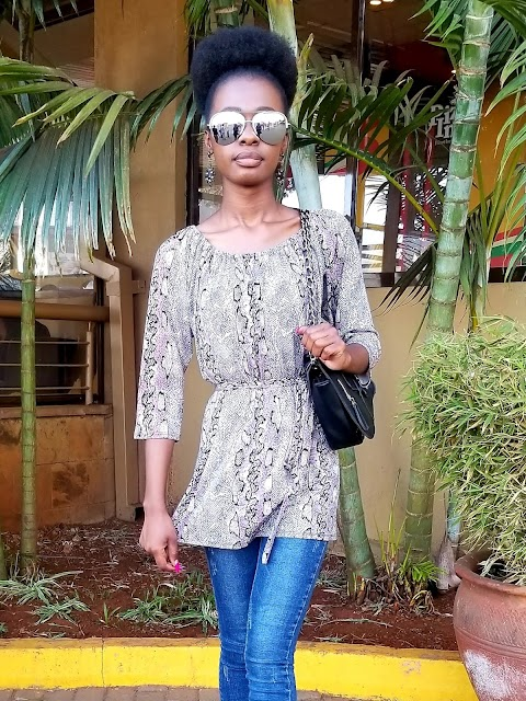 How To Wear A Snakeprint Top With Jeans