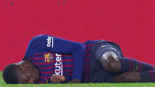 Dembele injured against Leganes