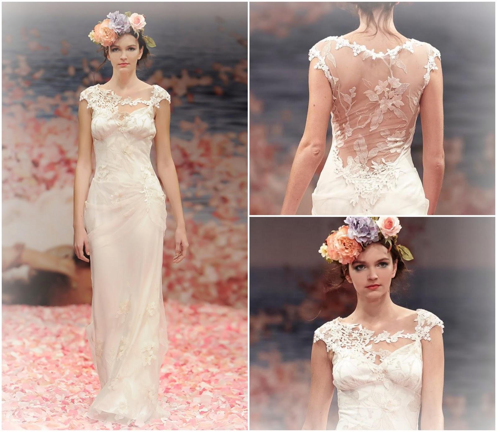 ... abito da sposa non appena l ho visto  il ricamo floreale che incornicia  spalle e schiena 6153c6a74d0