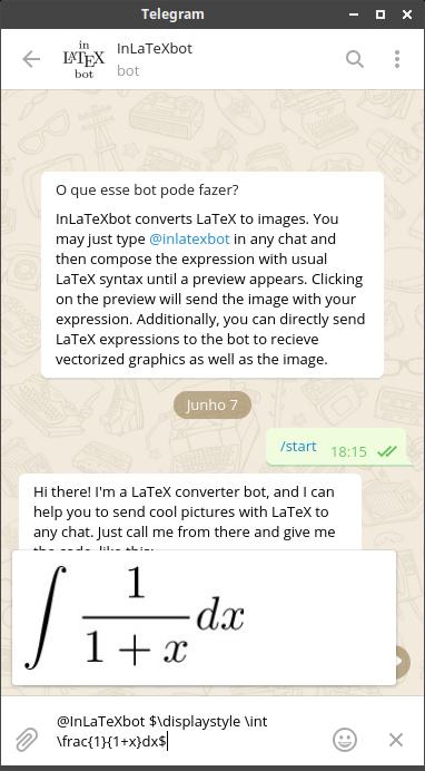 Pré-visualização no bot @InLaTexbot