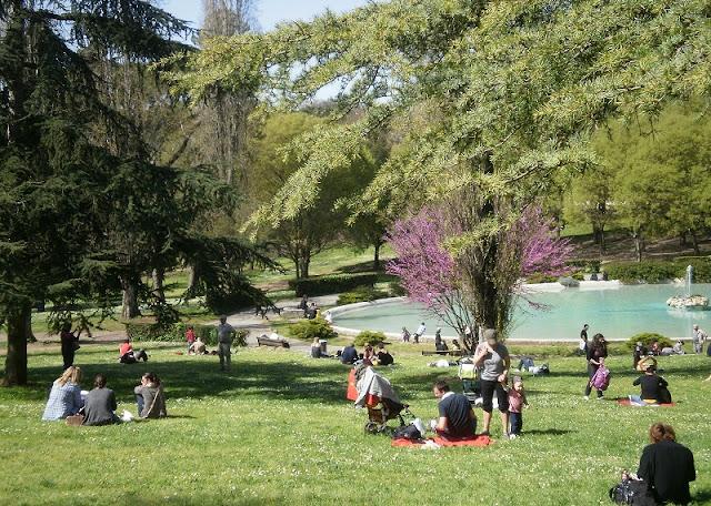 Jardins da Villa Borghese em Roma na Itália