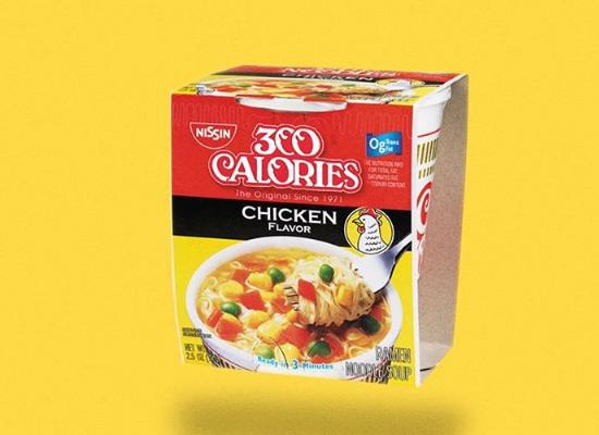 Calorias dos alimentos - Macarrão instantâneo de copo