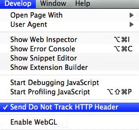Do Not Track Safari