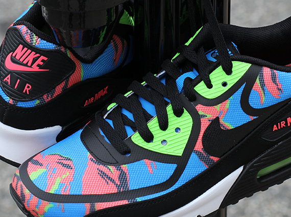 super popular 29d47 61d7a Nike Air Max 90 Tape – Blue Hero – Flash Lime – Atomic Red