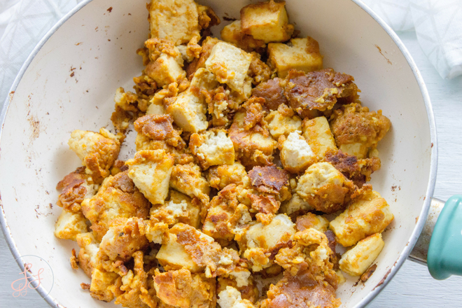 EASY Tofu Popcorn Chick'n. Gluten free and Dairy Free