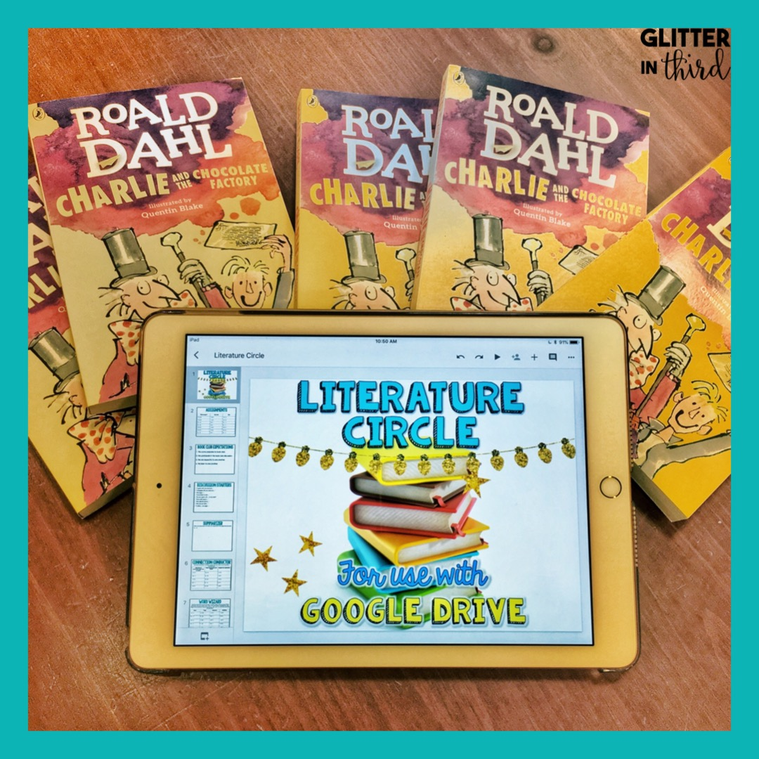 hight resolution of Literature circle books for 3rd-grade - Glitter in Third