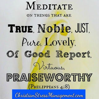 Meditate on things that are true, noble, just, pure, lovely, of good report, virtuous, praiseworthy Philippians 4:8