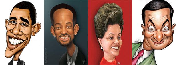 exemplos de caricaturas