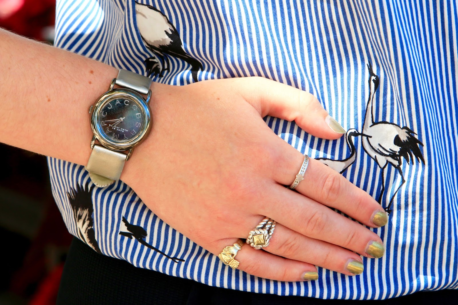 metallic marc jacobs watch