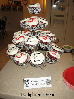 "Since it's all about Teams we had ""Choose your Team Cupcakes"""