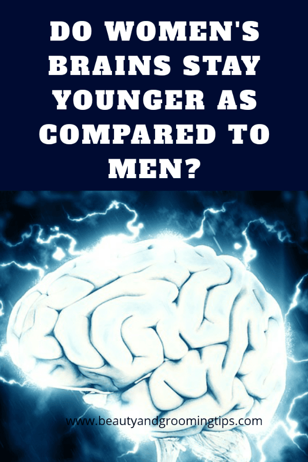 Human brain - brain ages according to gender