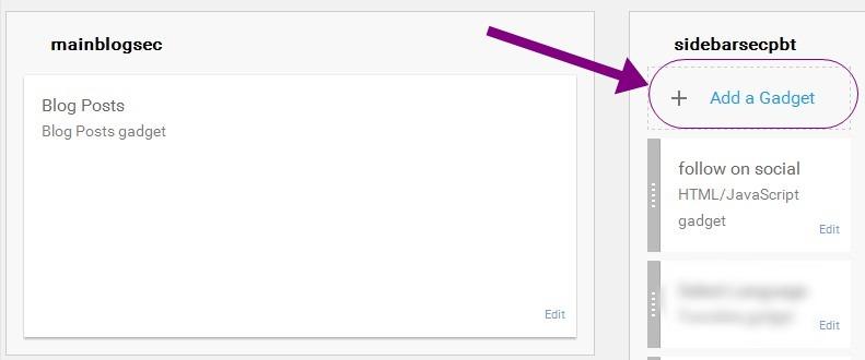 ad google translate widget for your blog
